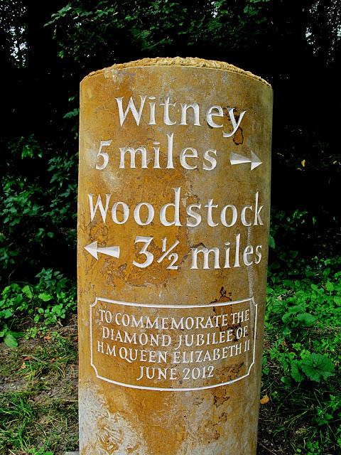 Milestone. Hornton iron stone.