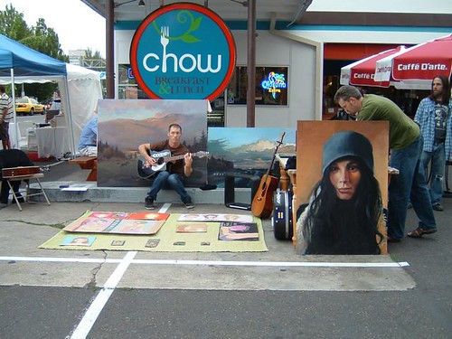 music and art at Chow Café