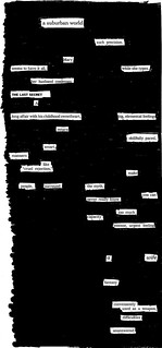 A Suburban World - A Blackout Poem