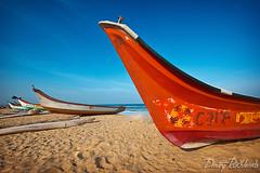 Boats on beach. Chennai, India