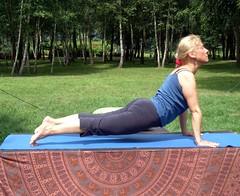 Yoga at park 2009.