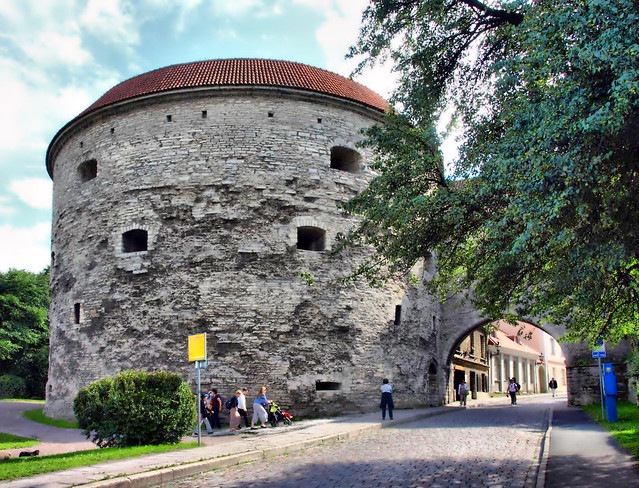 The Fat Margaret's Tower (Paks Margareeta) and the Great Coastal Gate (Suur Rannavärav)