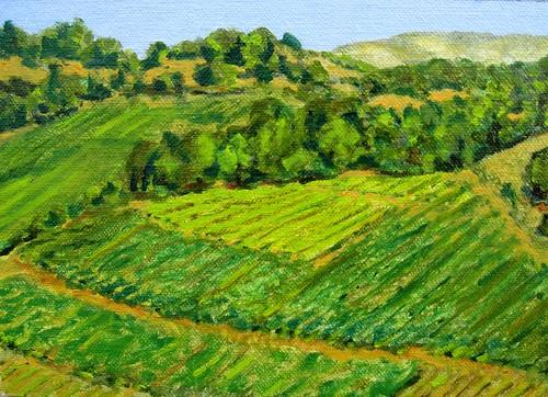 california painting landscape winery pleinair pochade winerypainting