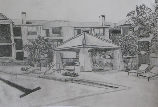 2 Point Perspective Building Drawing http://www.flickr.com/photos/charmmarch/3953630170/