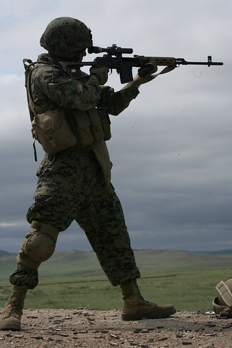 The standing sniper