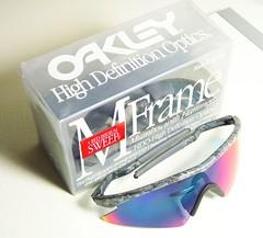 5e715b6a168 Oakley M Frame Sweep Mumbo Black Rain +Red Iridium