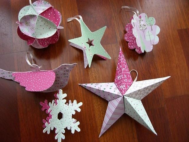 Decoraciones en papel flickr photo sharing - Como hacer decoraciones navidenas ...