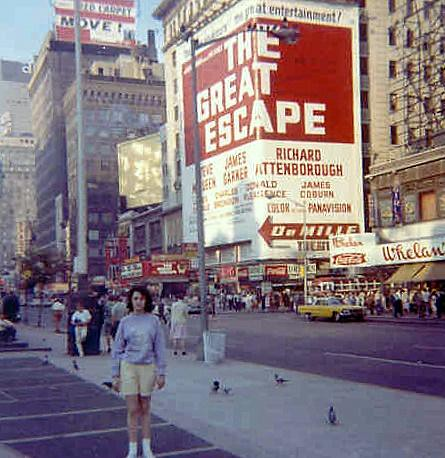 Times Square Vintage Color Photo New York City 1960s