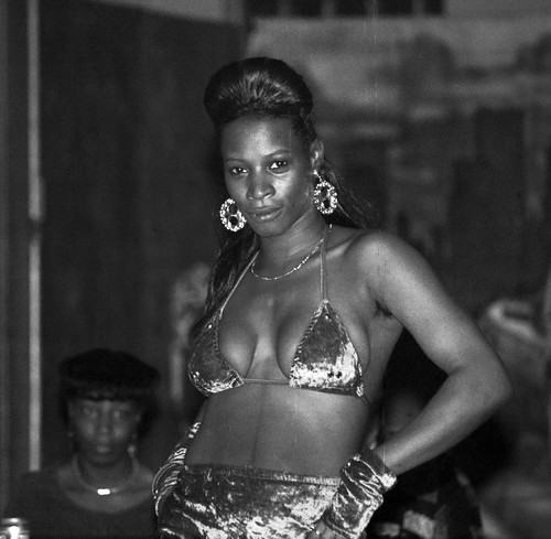 Sapphire and Baby Doll African American Fashion Show Pulaski Hall 15th and West Huntingdon Park Avenue Philadelphia B&W Aug 11 1995 001