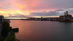 Sunset over Willamette River