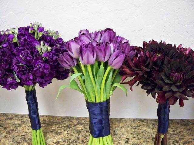 Bridesmaid Flowers Purple : Purple bridesmaid bouquets flickr photo sharing