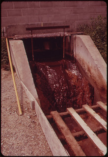 Flume Carrying Untreated Wastes to Clarifier at the International Paper Company Mill ... 06/1973