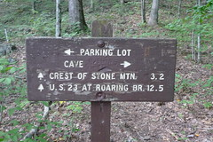 Starting point of the Stone Mountain Trail