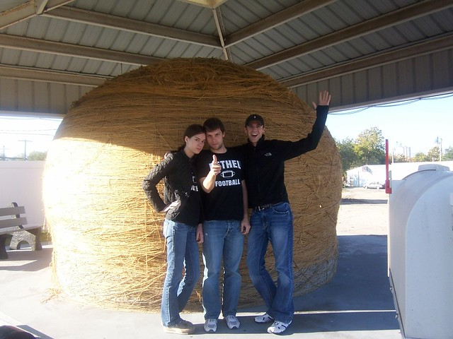 posing with the twine