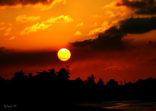 sunset landscape guyana georgetown seawall picnik
