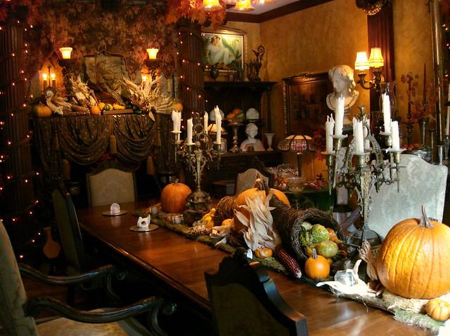 Thanksgiving Table Setting Floral Hawaii Interior Designer Rick Romer