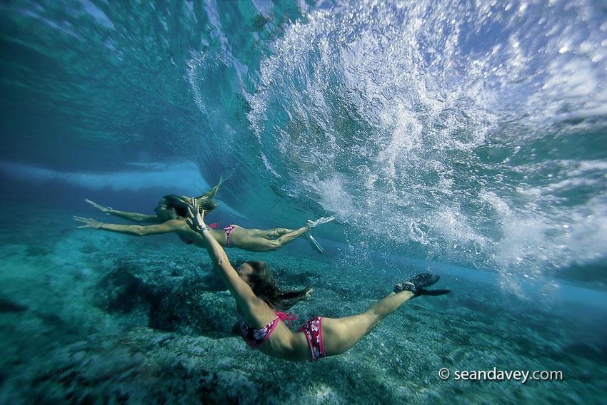 Woman Enjoying Swimming Underwater Stock Footage Video