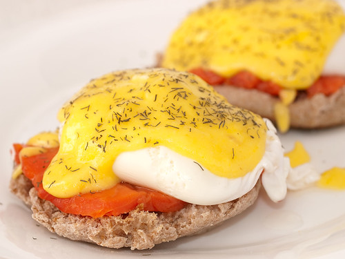 365 Breakfasts-312: Eggs Benedict & Salmon