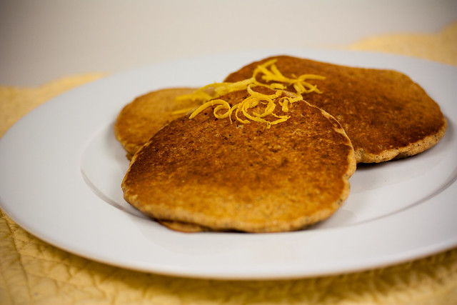 Vegan Lemon Poppy Seed Pancakes