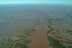 estuary, horizon, sea, natural environment, shore, landscape, aerial photography, marsh,