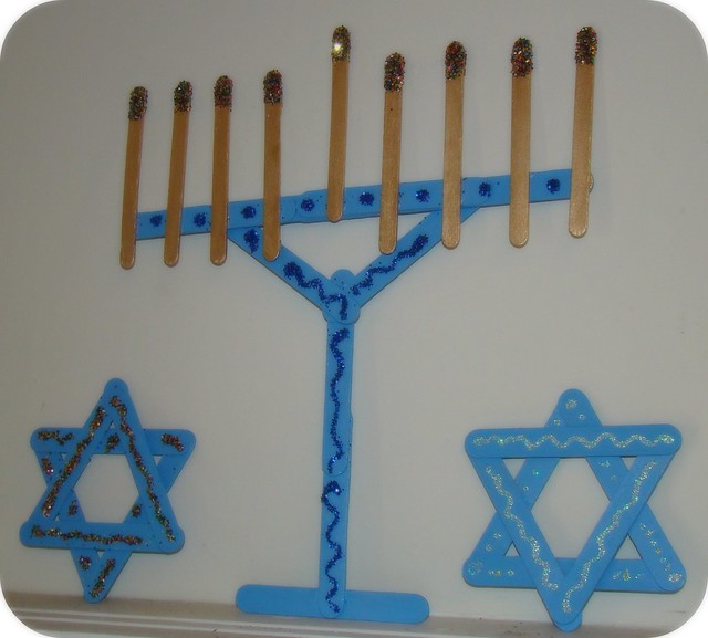 Popsicle stick hanukkah decor flickr photo sharing for Decoration sticks