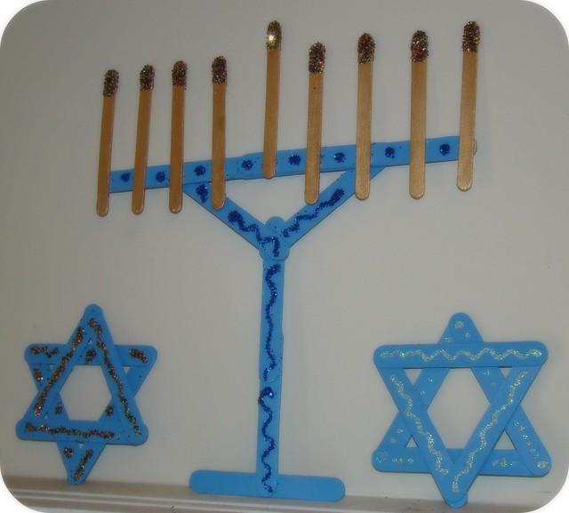 popsicle stick hanukkah decor | Flickr - Photo Sharing!