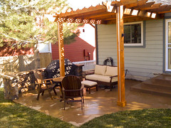 backyard, outdoor structure, property, pergola, porch, yard, deck, cottage, patio, home,