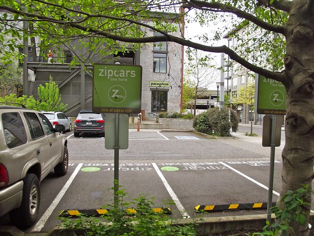 Zipcar parking, Portland Oregon.  (by Rosa Say on flickr)