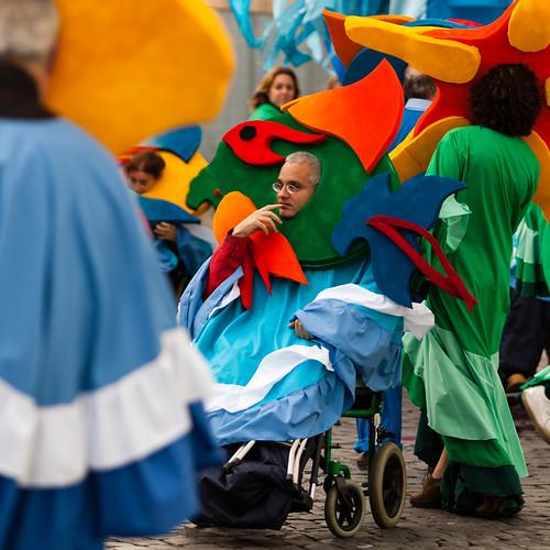 Karneval im Rollstuhl; copyright 2014: Georg Berg