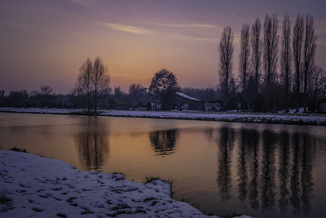 Winter sunset  in Groenekan