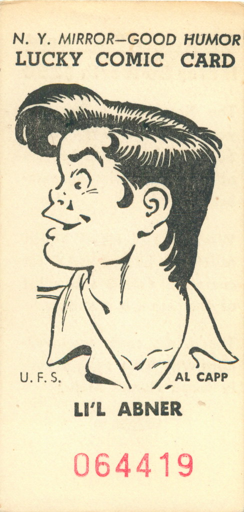 Lil Abner - New York Mirror Good Humor Lucky Comics Card