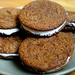 Molasses Spice Cookies with Spiced Cream Filling