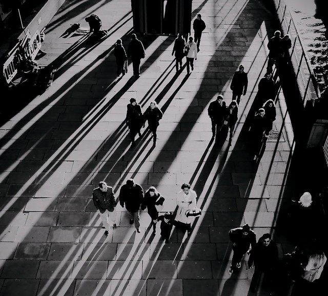 The sound of the crowd - Great Examples of Shadows in Street Photography