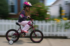 mountain bike(0.0), sports(0.0), flatland bmx(0.0), freestyle bmx(0.0), extreme sport(0.0), bmx racing(0.0), bicycle motocross(1.0), vehicle(1.0), training wheels(1.0), bmx bike(1.0), sports equipment(1.0), cycle sport(1.0), road cycling(1.0), cycling(1.0), bicycle(1.0),