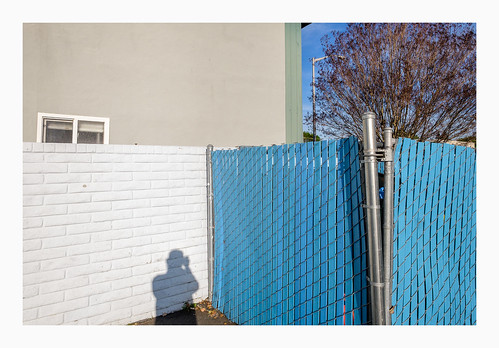 White Wall - Blue Fence : San Jose, Ca.