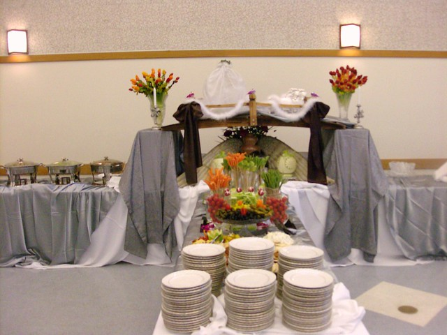 Wedding Buffet Table Setup Ma.