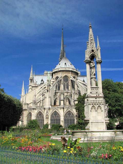 Notre dame de paris apse exterior flickr photo sharing for Exterior notre dame