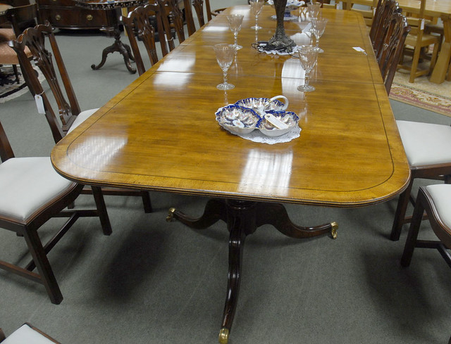 round dining table with pedestal base and 4 chairs - ShopWiki