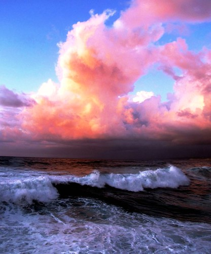 ocean california pink blue sky favorite cloud white storm color colour nature water beautiful beauty weather coast marine surf pacific earth pastel wave science best photograph cumulus humid barometer facts moonjazz