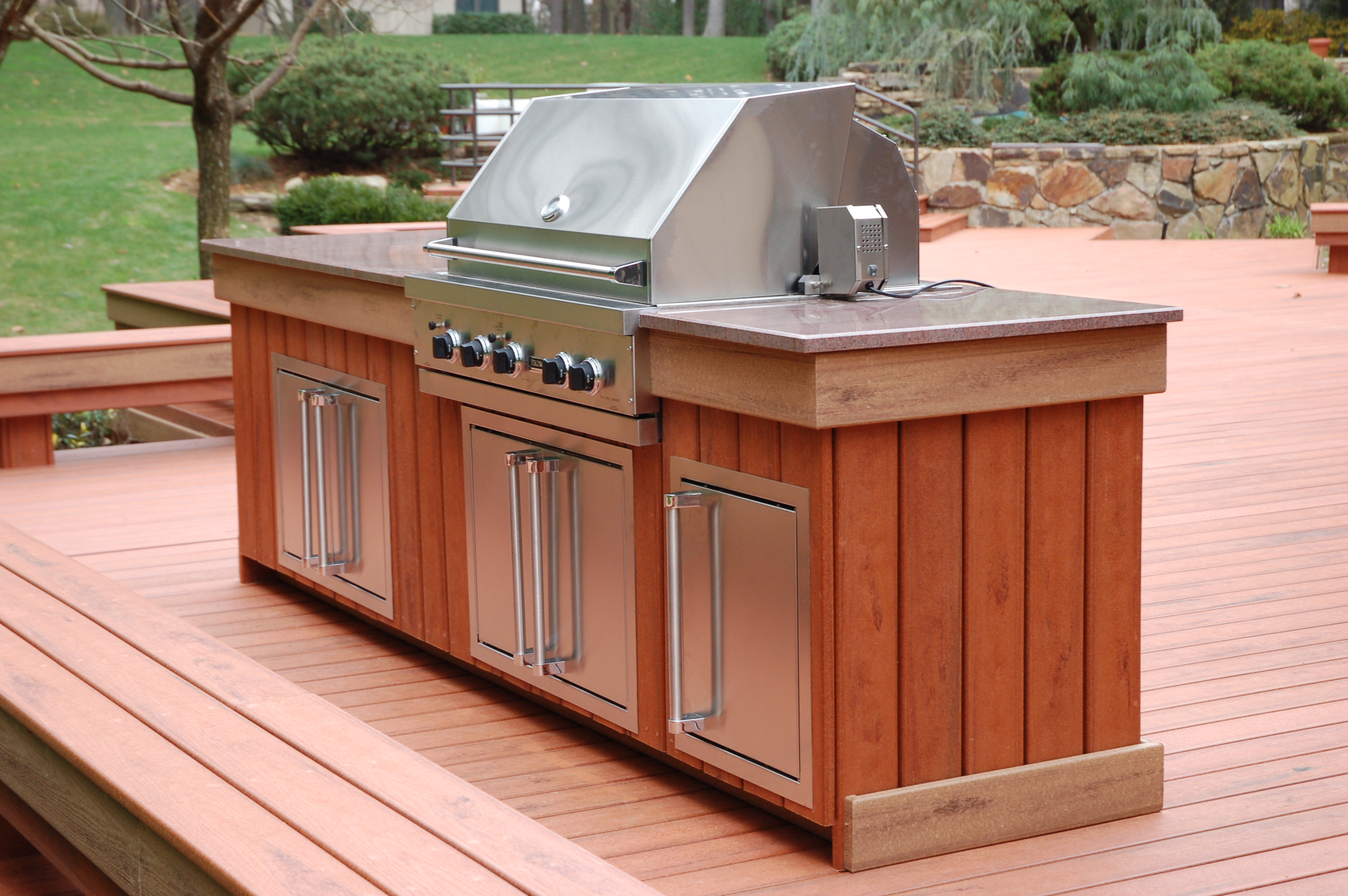 Custom viking outdoor kitchen flickr photo sharing for Viking outdoor kitchen