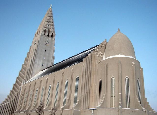 Hallgrímskirkja - an architectural landmark in Reykjavik, Iceland