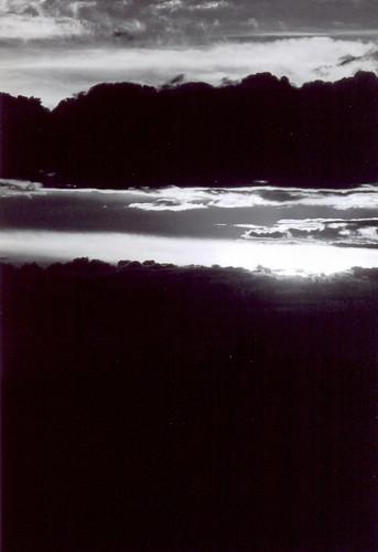 bw white black clouds landscape saskatchewan