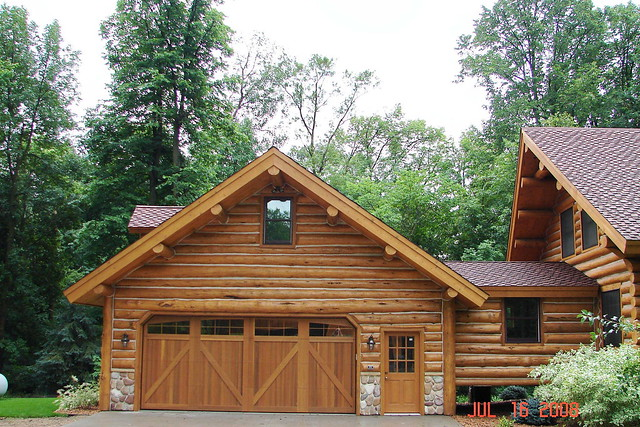 Log garage flickr photo sharing for Garage cabins