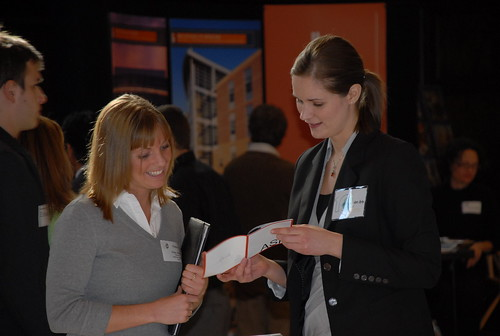 Students talk with local firms at Career Days