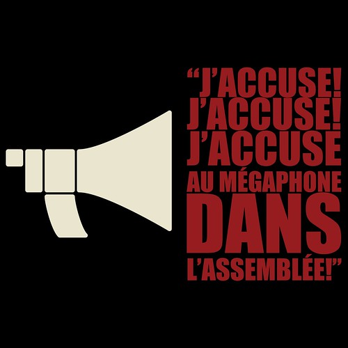 "Saez - ""J'accuse"" - Tshirt - Design v1 - Round II"