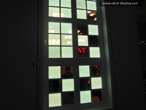 transparente oleds und lampen bei der light und building 2010. Black Bedroom Furniture Sets. Home Design Ideas