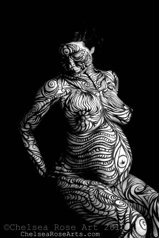Mother Goddess-body art photography