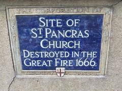 Photo of St. Pancras Church, London blue plaque