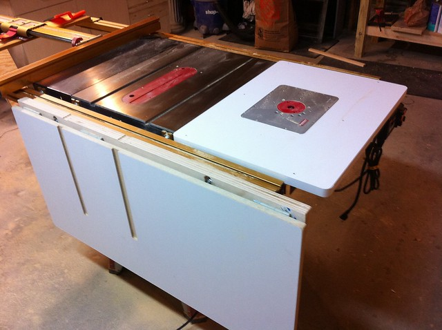 Table Saw Folding Outfeed Flickr Photo Sharing