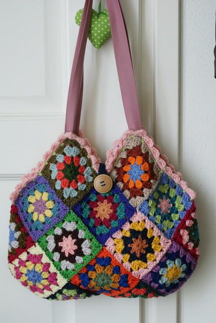 Granny Square Bag : granny square bag Flickr - Photo Sharing!